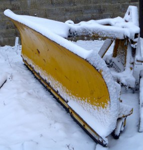 Snow Plough in Snow