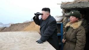 Kim Jong looking