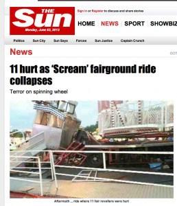 Sun Fairground ride