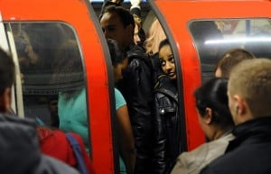 UK COMMUTER FACE CHAOS AS  UNDERGROUND TUBE WORKERS GO ON STRIKE