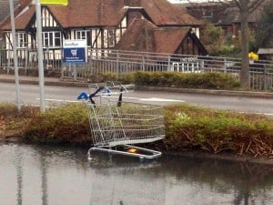 Flooded Shopping Trolley