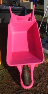 Pink Plastic Wheelbarrow