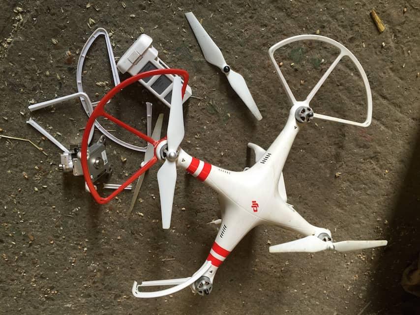 Denzil's Destroyed Drone